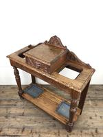 Antique Victorian Carved Oak Hall Stand (5 of 14)
