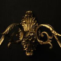 French Pair of Brass Wall Sconces c.1930 (9 of 10)