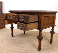 Oak Desk Green Man 19th Century (10 of 13)