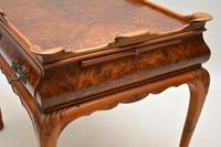 Antique Burr Walnut Tray Top Side Table (6 of 8)