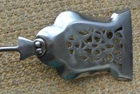 Victorian Steel & Brass Fire Irons Poker Tongs Shovel c.1850-1860 (7 of 8)