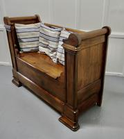 French Walnut and Cherry Empire Style Window Seat (3 of 8)