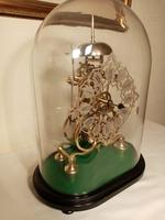 Passing Strike Skeleton Clock. Original Glass Dome (2 of 7)