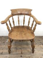 19th Century Beech and Elm Smoker's Bow Chair (11 of 12)