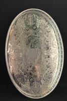 Vintage Silver Plated Oval Galleried Tray (2 of 3)