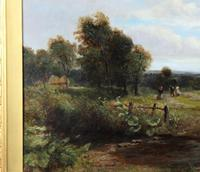 Country Scene with Hay Cart by Charles Thomas Burt (11 of 14)