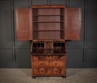 Queen Anne Walnut Bureau Bookcase (3 of 12)