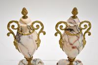 Pair of Antique French Marble & Gilt Bronze Urns (9 of 9)