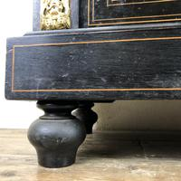 Victorian Ebonised Inlaid Side Cabinet with Brass Mounts (7 of 15)