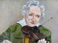 Oil on Canvas The Violinist Artist David Vivien 1970s (5 of 10)