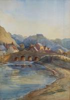 Large Original 19th Century Antique Yorkshire Landscape Watercolour Painting (2 of 11)