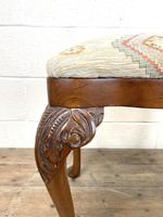 Late Victorian Carved Mahogany Stool (5 of 8)