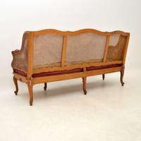 Antique French Carved Walnut Bergere Sofa (13 of 15)