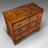 Antique Gentleman's English Burr Walnut Chest of Drawers - Georgian (7 of 12)