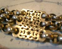 Antique Pocket Watch Chain 1890s Victorian Large Silver Nickel Fancy Link Albert (8 of 12)