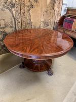 English Regency Flame Mahogany Centre Table (2 of 8)