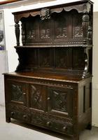 Early 18th Century Carved Oak Buffet Sideboard Dresser (3 of 14)