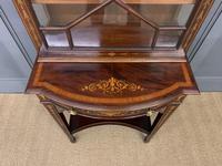 Edwardian Slender Inlaid Mahogany Display Cabinet (4 of 21)