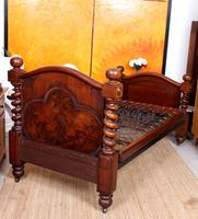 Bed Frame Edwardian Carved Mahogany Barley Twist (8 of 11)