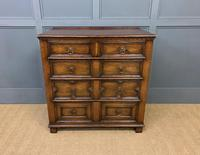 Oak Jacobean Style Chest of Drawers (4 of 13)