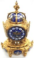 Antique 8 Day Ormolu Mantel Clock Sevres Gothic Knight Tower French Mantle Clock (6 of 8)