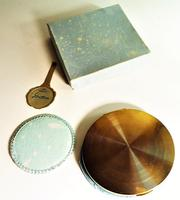 Rare Unused 1930s Hand Painted Enamel Stratton Powder Compact (6 of 8)