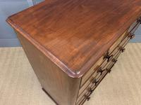 Victorian Tall Mahogany Chest of Drawers (8 of 12)