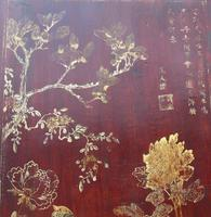 Impressive Pair of Chinese Chinoiserie Lacquered Panels (2 of 10)