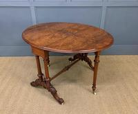 Large Victorian Burr Walnut Sutherland Table (8 of 16)
