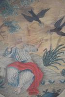 Antique Silk Work Embroidery Picture Elderly Gentleman (9 of 11)