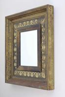 Vintage Green & Brass Wall Mirror With a Marble Effect Paint Finish (5 of 8)