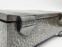 Antique Arts & Crafts Art Deco Hammered Pewter Cigarette Box (5 of 9)