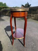 Antique Marble Top Mahogany Kidney Shaped Table (6 of 8)