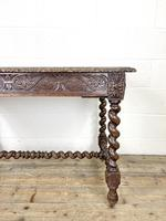 Antique 19th Century Carved Oak Table (4 of 11)