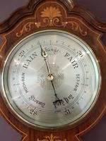 Superb Antique Rosewood Sheraton Inlaid Barometer (2 of 7)