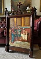 Large Gothic Oak Framed 19th Century Religious Old Master Oil Painting for TLC (2 of 14)