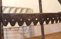 Antique Steel Fireplace Footman. Kettle and Plate Trivet. Welsh Folk Art (4 of 10)