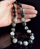 Antique Victorian Banded Agate Bead Necklace (10 of 13)