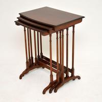Antique Edwardian Mahogany Nest of  Tables (3 of 11)