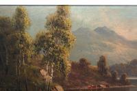 Pair of Romantic Oil Paintings English Landscape Barnstable Devon (8 of 9)