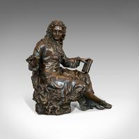 Antique Fontaine Figure, French, Bronze, Statue, after Ernest Rancoulet c.1920 (7 of 12)