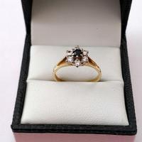 Vintage 18ct Gold Diamond Ring Size O