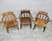 6 Smoker's Bow Armchairs - 19th Century (4 of 6)