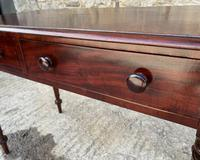 Antique Victorian Mahogany Two Drawer Side Table (4 of 20)