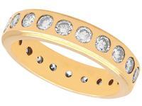 1.76ct Diamond & 18ct Yellow Gold Full Eternity Ring - Vintage c.1960
