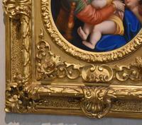 Porcelain Plaque of the Madonna Della Sedia by Raphael (5 of 9)