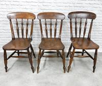 Set of 6 Antique Spindleback Kitchen / Dining Chairs (6 of 8)