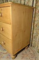Petite Antique Chest - Stripped Pine Chest of Drawers (6 of 8)
