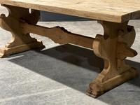 Large Rustic Bleached Oak Farmhouse Refectory Dining Table (13 of 25)