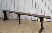 Pair of Antique Oak Benches (4 of 7)